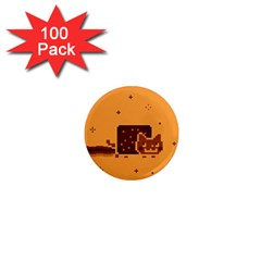 Nyan Cat Vintage 1  Mini Magnets (100 Pack)  by Onesevenart