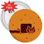 Nyan Cat Vintage 3  Buttons (10 pack)