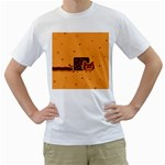 Nyan Cat Vintage Men s T-Shirt (White) (Two Sided)