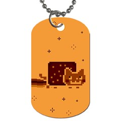 Nyan Cat Vintage Dog Tag (two Sides) by Onesevenart