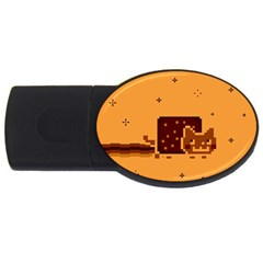 Nyan Cat Vintage Usb Flash Drive Oval (2 Gb)  by Onesevenart