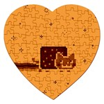 Nyan Cat Vintage Jigsaw Puzzle (Heart)