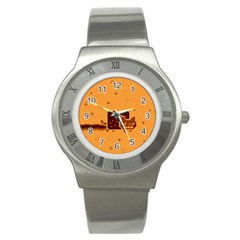 Nyan Cat Vintage Stainless Steel Watch by Onesevenart