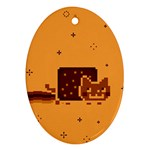 Nyan Cat Vintage Oval Ornament (Two Sides)