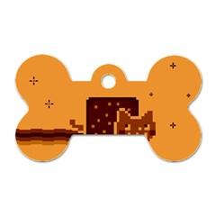 Nyan Cat Vintage Dog Tag Bone (two Sides) by Onesevenart