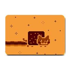 Nyan Cat Vintage Small Doormat  by Onesevenart