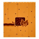 Nyan Cat Vintage Shower Curtain 66  x 72  (Large)