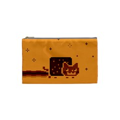 Nyan Cat Vintage Cosmetic Bag (small)  by Onesevenart