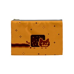 Nyan Cat Vintage Cosmetic Bag (medium)  by Onesevenart