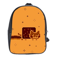 Nyan Cat Vintage School Bags(large)  by Onesevenart
