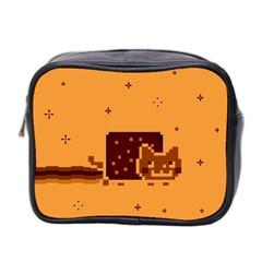 Nyan Cat Vintage Mini Toiletries Bag 2 Side by Onesevenart