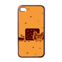 Nyan Cat Vintage Apple Iphone 4 Case (black) by Onesevenart