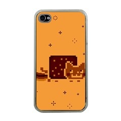 Nyan Cat Vintage Apple Iphone 4 Case (clear) by Onesevenart