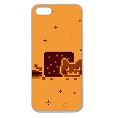 Nyan Cat Vintage Apple Seamless Iphone 5 Case (clear) by Onesevenart