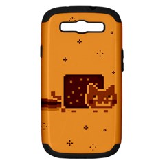 Nyan Cat Vintage Samsung Galaxy S Iii Hardshell Case (pc+silicone) by Onesevenart