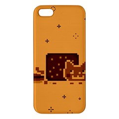 Nyan Cat Vintage Apple Iphone 5 Premium Hardshell Case by Onesevenart