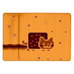 Nyan Cat Vintage Samsung Galaxy Tab 10 1  P7500 Flip Case by Onesevenart