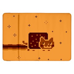 Nyan Cat Vintage Samsung Galaxy Tab 8 9  P7300 Flip Case by Onesevenart