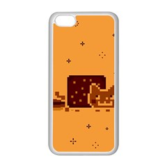 Nyan Cat Vintage Apple Iphone 5c Seamless Case (white) by Onesevenart