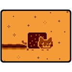 Nyan Cat Vintage Double Sided Fleece Blanket (Large)