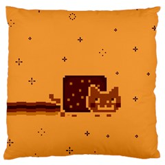 Nyan Cat Vintage Standard Flano Cushion Case (two Sides) by Onesevenart