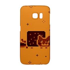 Nyan Cat Vintage Galaxy S6 Edge by Onesevenart