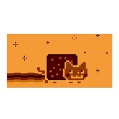 Nyan Cat Vintage Satin Wrap by Onesevenart