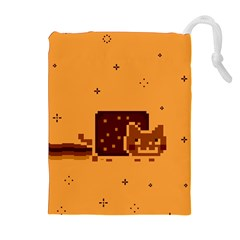 Nyan Cat Vintage Drawstring Pouches (extra Large) by Onesevenart