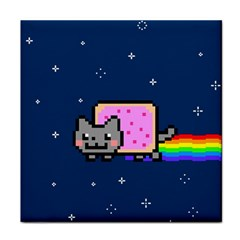 Nyan Cat Tile Coasters by Onesevenart