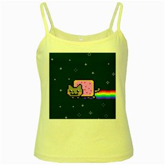 Nyan Cat Yellow Spaghetti Tank by Onesevenart