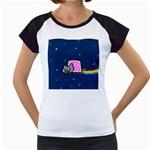 Nyan Cat Women s Cap Sleeve T