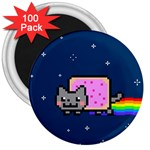 Nyan Cat 3  Magnets (100 pack)
