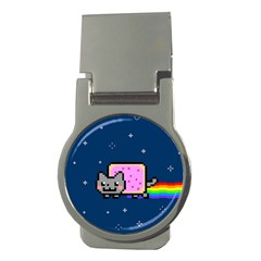 Nyan Cat Money Clips (round)  by Onesevenart