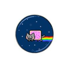 Nyan Cat Hat Clip Ball Marker by Onesevenart