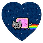 Nyan Cat Jigsaw Puzzle (Heart)