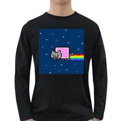 Nyan Cat Long Sleeve Dark T Shirts by Onesevenart