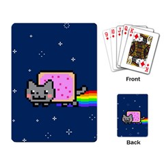 Nyan Cat Playing Card by Onesevenart