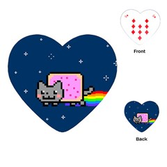 Nyan Cat Playing Cards (heart)  by Onesevenart