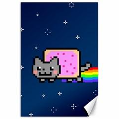 Nyan Cat Canvas 20  X 30   by Onesevenart