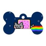 Nyan Cat Dog Tag Bone (One Side)