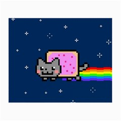 Nyan Cat Small Glasses Cloth (2 Side) by Onesevenart