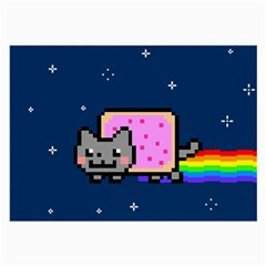 Nyan Cat Large Glasses Cloth (2 Side) by Onesevenart