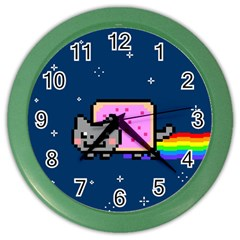 Nyan Cat Color Wall Clocks by Onesevenart