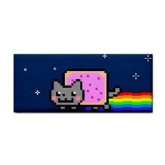 Nyan Cat Hand Towel by Onesevenart