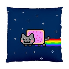 Nyan Cat Standard Cushion Case (one Side) by Onesevenart