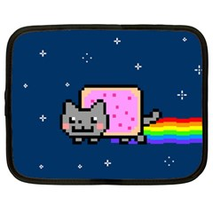 Nyan Cat Netbook Case (xxl)  by Onesevenart