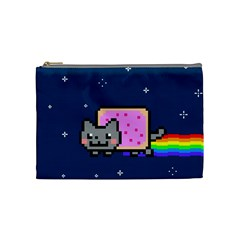Nyan Cat Cosmetic Bag (medium)  by Onesevenart