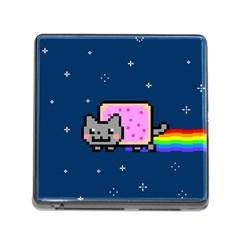 Nyan Cat Memory Card Reader (square) by Onesevenart