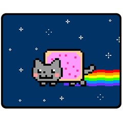 Nyan Cat Fleece Blanket (medium)  by Onesevenart