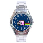 Nyan Cat Stainless Steel Analogue Watch